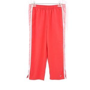 Nike Coral Side Stripe Athletic Wind Capri Pants M